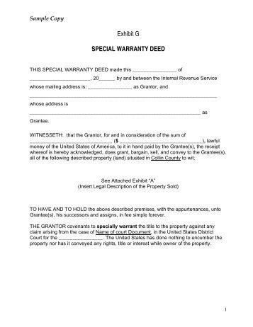 CORRECTION SPECIAL WARRANTY DEED - Association ...