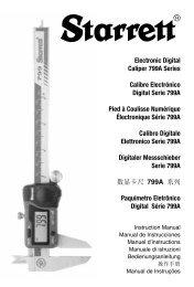 Electronic Digital Caliper 799A Series Calibre Electrónico ... - Starrett