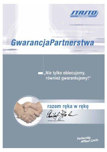 Gwarancja Partnerstwa - Stasto.com