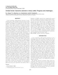 Invited review: Genomic selection in dairy cattle - Purdue Genomics ...