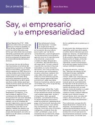 Say, el empresario y la empresarialidad - Coparmex