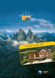 Prijslijst zomer 2013 - Hotel Brötz