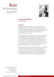 Andreas Buchholz - Econ Referenten-Agentur