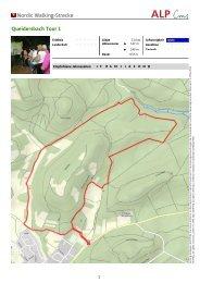 Nordic Walking-Strecke Queidersbach Tour 1 - Zentrum Pfälzerwald