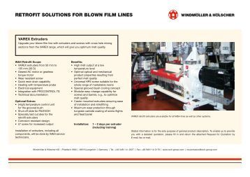 retrofit solutions for blown film lines - Windmöller & Hölscher KG