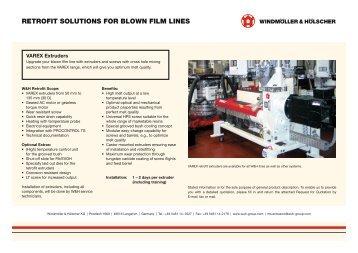 retrofit solutions for blown film lines - Windmöller & Hölscher KG