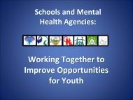 Working Together to Improve Opportunities for Youth - Children's ...