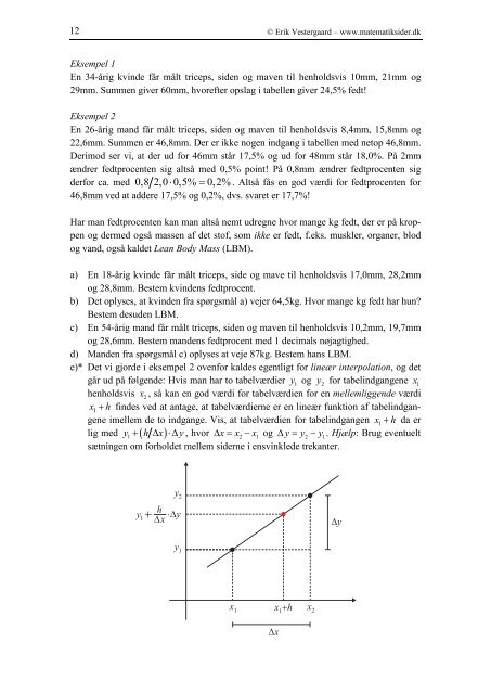 Fitness matematik - Vestergaards Matematik Sider