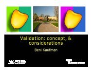 Validation: concept, & considerations - Seed Science Center