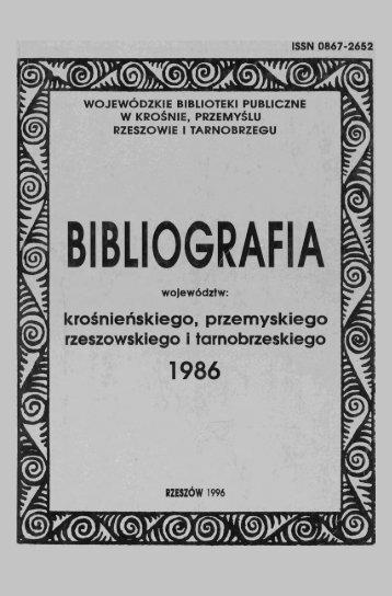 1986 - Wojewódzka i Miejska Bilioteka Publiczna w Rzeszowie