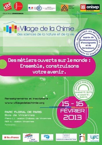 Programme Village de la Chimie 2013 - Messer