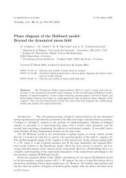 Phase diagram of the Hubbard model - Department of Physics ...