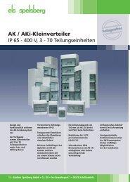 AK / AKi-Kleinverteiler IP 65 - 400 V, 3 - 70 ... - Logistik Journal