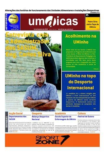 Jornal UMdicas nº84, de 14 de Setembro de 2010