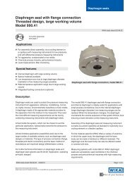 Diaphragm seal with flange connection Threaded ... - WIKA Polska