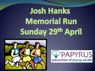 Josh Hanks Memorial Run