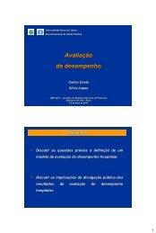 Avaliação de desempenho - Universidade Nova de Lisboa