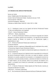 Ley 20416 LEY ORGANICA DEL SERVICIO PENITENCIARIO ...