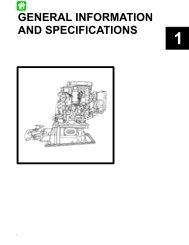 GENERAL INFORMATION AND SPECIFICATIONS