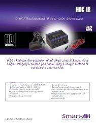 Bi-directional IR Smartavi HDC-IR-TXS IR CAT5 Extender//Transmitter 1000ft
