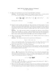 PHY 137A (D. Budker) Midterm 2 Solutions TA: Uday Varadarajan 1 ...