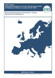 EWF Guideline Dedicated Knowledge for Personnel with the ...