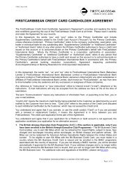 FIRSTCARIBBEAN CREDIT CARD CARDHOLDER AGREEMENT