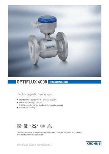 F 3200 Series Inline Electromagnetic Flow Meter Manual