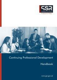 CPD Handbook - The Civil Service