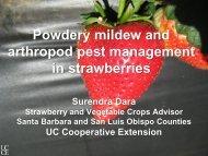 Powdery Mildew and Arthropod Pest Management in Strawberries ...