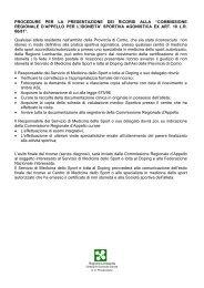 commissione regionale d'appello per l'idoneita' sportiva ... - Asl Como
