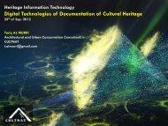 Digital Technologies of Documentation of Cultural ... - LinkSCEEM