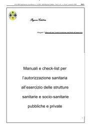 allegato 7- Manuali e check list per l ... - Regione Calabria