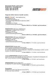 Bestellformular PDF - Steadystick