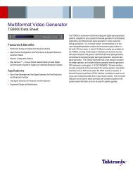 Multiformat Video Generator - TG8000 - Tektronix