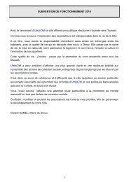 Demande de subventions 2014 - Dreux.com
