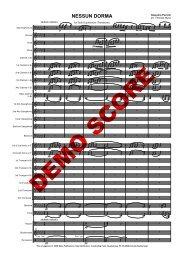 Nessun Dorma WB - Musikverlag Frank