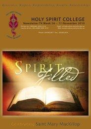 We Pray - Holy Spirit College