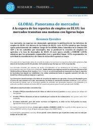 GLOBAL: Panorama de mercados - Sala de Inversión