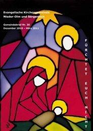 Gemeindebrief Nr. 30 Dezember 2010 bis März 2011
