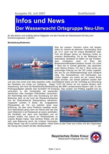 Infos und News 20 - Wasserwacht Ortsgruppe Neu-Ulm