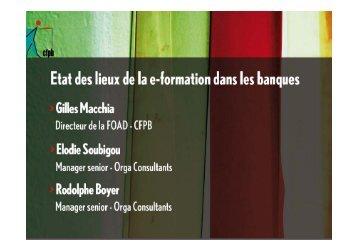 Objectifs de la e-formation - CFPB