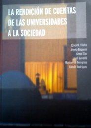 5. Rendición de cuentas en las universidades españolas - Web URV