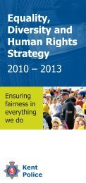 leaflet explaining the strategy - Kent Police