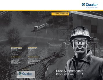 Dust Suppressants Product Line - Quaker Chemical Corporation