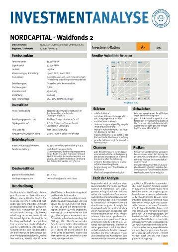 NORDCAPITAL - Waldfonds 2.FH11 - Stefan Kopf