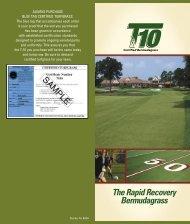 T-10 Brochure - The Turfgrass Group