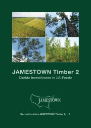 Kurzinformation JAMESTOWN Timber 2, LP ... - Stefan Kopf