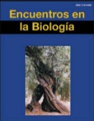 pdf - Encuentros en la Biología - Universidad de Málaga