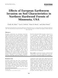 Effects of European Earthworm Invasion on Soil Characteristics in ...